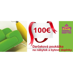Darčeková poukážka v hodnote 100 EUR