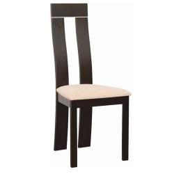 Drevená stolička, wenge/látka béžová, DESI
