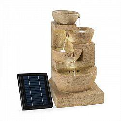 Blumfeldt Korinth, záhradná fontána, solárny panel, 3 W, LED, pieskovcová optika